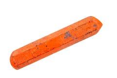 gammal orange för crayon royaltyfri fotografi