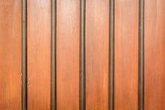 Gammal orange trävägg Royaltyfri Fotografi