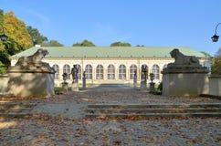 Gammal orangeri, Warszawa (Polen) Royaltyfria Foton