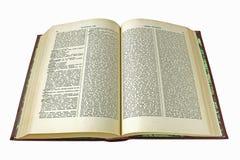 Gammal ordbok Arkivfoto