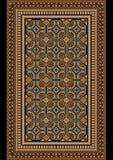 Gammal orientalisk filt med beiga- och bruntskuggor Arkivfoto