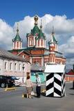 Gammal ortodox kyrka Brusensky kloster kolomna kremlin russia Arkivfoto