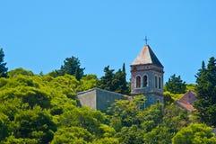 Gammal ortodox kyrka i Tisno, Kroatien Royaltyfri Bild