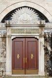 gammal ottomankalkon för dörr Arkivbilder