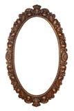 gammal oval för bronze ram royaltyfri fotografi