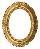 gammal oval för ramguld Fotografering för Bildbyråer