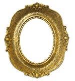 gammal oval för ramguld Royaltyfri Foto