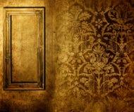 gammal over wallpaper för ram Arkivfoton