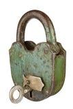 gammal padlock Royaltyfri Bild