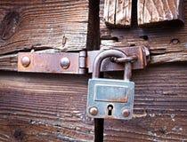 Gammal padlock Royaltyfria Foton