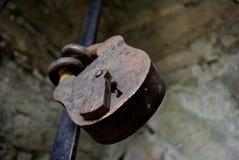gammal padlock Royaltyfri Foto