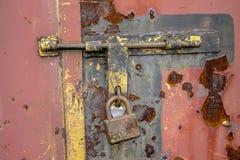 gammal padlock Royaltyfria Bilder