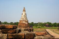 Gammal pagod i Ayutthaya Royaltyfri Fotografi