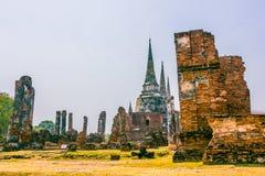 Gammal pagod i Ayutthaya av Thailand arkivfoton