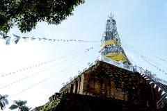 Gammal pagod i Thailand arkivbilder