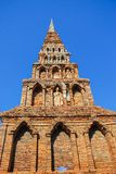 gammal pagoda thailand Royaltyfri Bild
