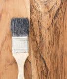 Gammal paintbrush Fotografering för Bildbyråer