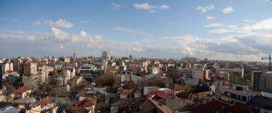 gammal panorama bucharest för center stad Arkivfoton