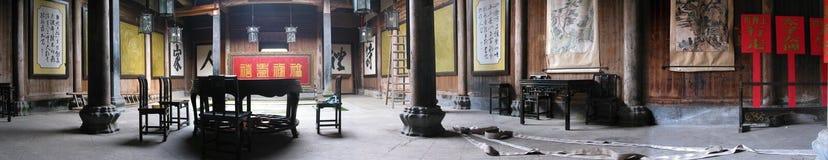 gammal panorama för kinesiskt hus Royaltyfria Bilder