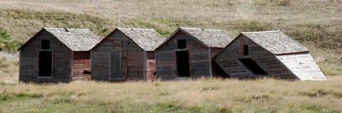 gammal panorama för ladugårdar fyra fotografering för bildbyråer