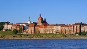 gammal panorama för stad Arkivfoto