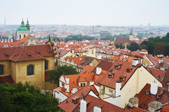 gammal panoramaprague town Arkivfoto