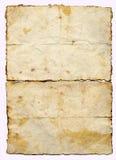 gammal paper parchment Royaltyfri Foto