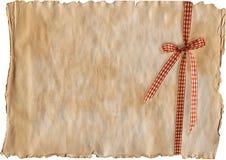 gammal paper pläd för blank bow Arkivfoton