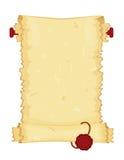 gammal paper scroll stock illustrationer
