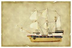 gammal paper ship Royaltyfria Foton
