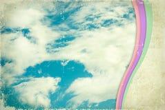 gammal paper skytappning för bakgrund Royaltyfria Bilder
