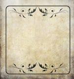 gammal paper tappning för grungeetikett Arkivbild