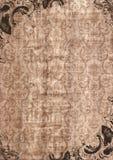 gammal paper tappning för kanfasram Royaltyfria Foton