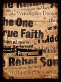 gammal paper text Arkivbilder
