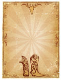 gammal paper text för bakgrundscowboy Royaltyfri Bild