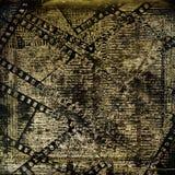 Gammal papperen och grungefilmstrip Royaltyfri Foto