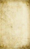 Gammal pappers- bakgrund med den blom- ramen för tappning Royaltyfria Foton