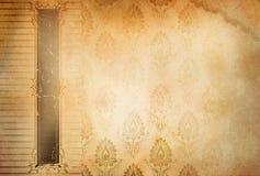 Gammal pappers- bakgrund med gammalmodiga modeller Arkivbild
