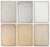 Gammal pappers- bakgrundstextur med tappningramgränsen Fotografering för Bildbyråer