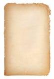 Gammal pappers- grungetextur, tomma Yellow Page Royaltyfri Bild