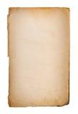 Gammal pappers- grungetextur, tomma Yellow Page Arkivbilder