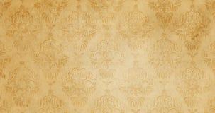 Gammal pappers- textur med blom- modeller för bakgrund Royaltyfria Bilder