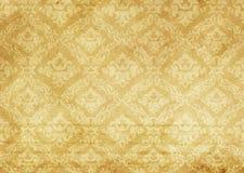 Gammal pappers- textur med dekorativa gammalmodiga modeller Royaltyfria Foton