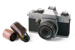 gammal parallell kamera Royaltyfria Bilder