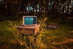 Gammal parallell TV Royaltyfria Foton