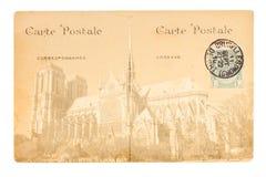 Gammal Paris vykort Royaltyfri Bild