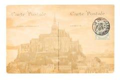 Gammal Paris vykort Royaltyfri Fotografi