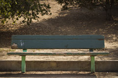 gammal park för bänk Royaltyfri Foto