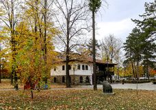 gammal park för hus arkivfoton
