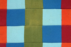 Gammal patchworktextur Royaltyfria Foton